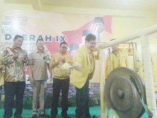 Wakil Ketua DPD Partai Golkar Sumsel M. Yansuri, membuka secara resmi Musda IX DPD Partai Golkar Muara Enim, di kantor DPD Partai Goklar Muara Enim, Sabtu (05/11/2016)
