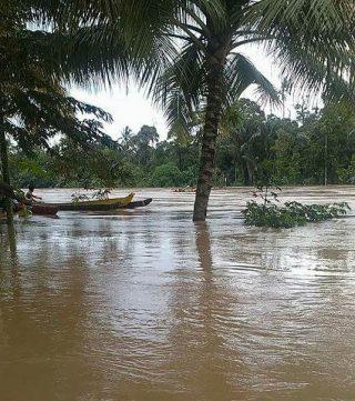Puncak musim penghujan mengakibarhtkan terjadinya banjir dan tanah longsor dibeberapa wilayah di Kabupaten Muara Enim