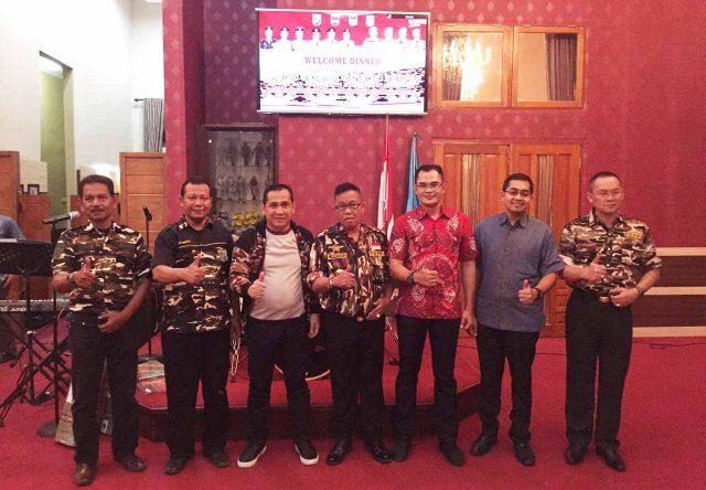 Ketua DPD FKPPI Sumsel bersama Walikota Lubuk Linggau dan pengurus FKPPI daerah.